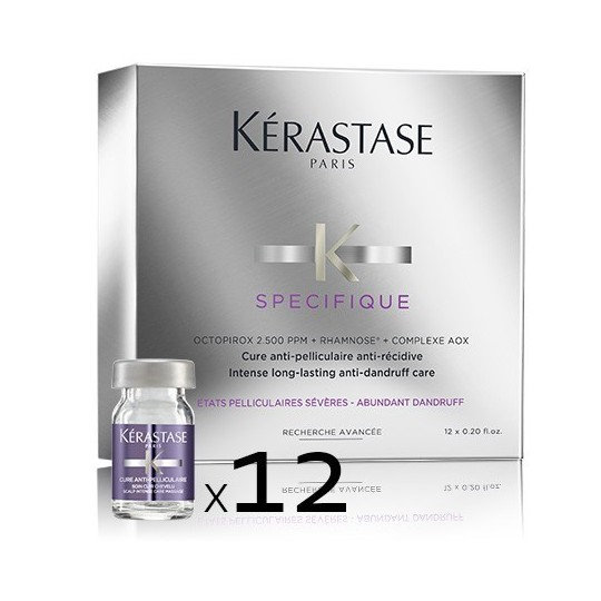 Cure Anti-pelliculaire Anti-récidive - 12 x 6 ml