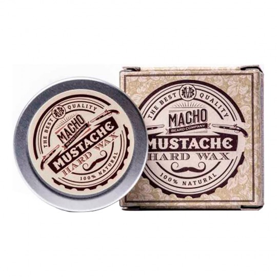 HARD NATURAL MUSTACHE WAX - 15 ml