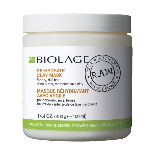 Biolage R.A.W. Re-Hydrate Clay Mask - 400 ml